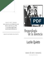 Arqueología de La Ausencia