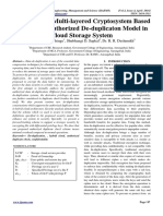 An Enhanced Multi-layered Cryptosystem Based Secure and Authorized De-duplicaton Model in Cloud Storage System