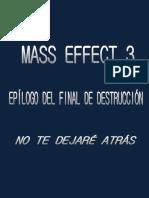 Epílogo Alternativo Mass Effect 3