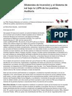 Echaide, Javier & Saludas, Maria Elena - Los TBIs (Tratados Bilaterales de Inversión) y El Sistema de Arbitraje Internacional