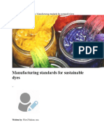 Manufacturing Standards for Sustainable Dyes
