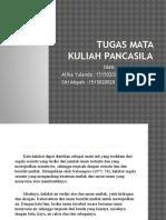 Tugas Mata Kuliah Pancasila