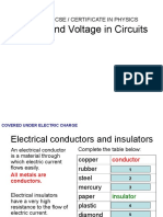 IGCSE 23 Current&VoltageInCircuits