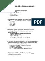 Session 11- Company Act