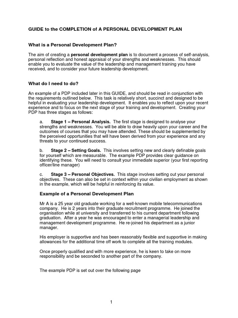 Personal Development Plan Example Guidepdf Performance 1520116929?vu003d1 Personal  Development Plan Example Guide  Personal Development Portfolio Example