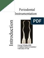 Manual Periodontal Instrumentation Bailey1