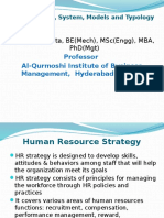 HRM Strategy System Models Typology GCM