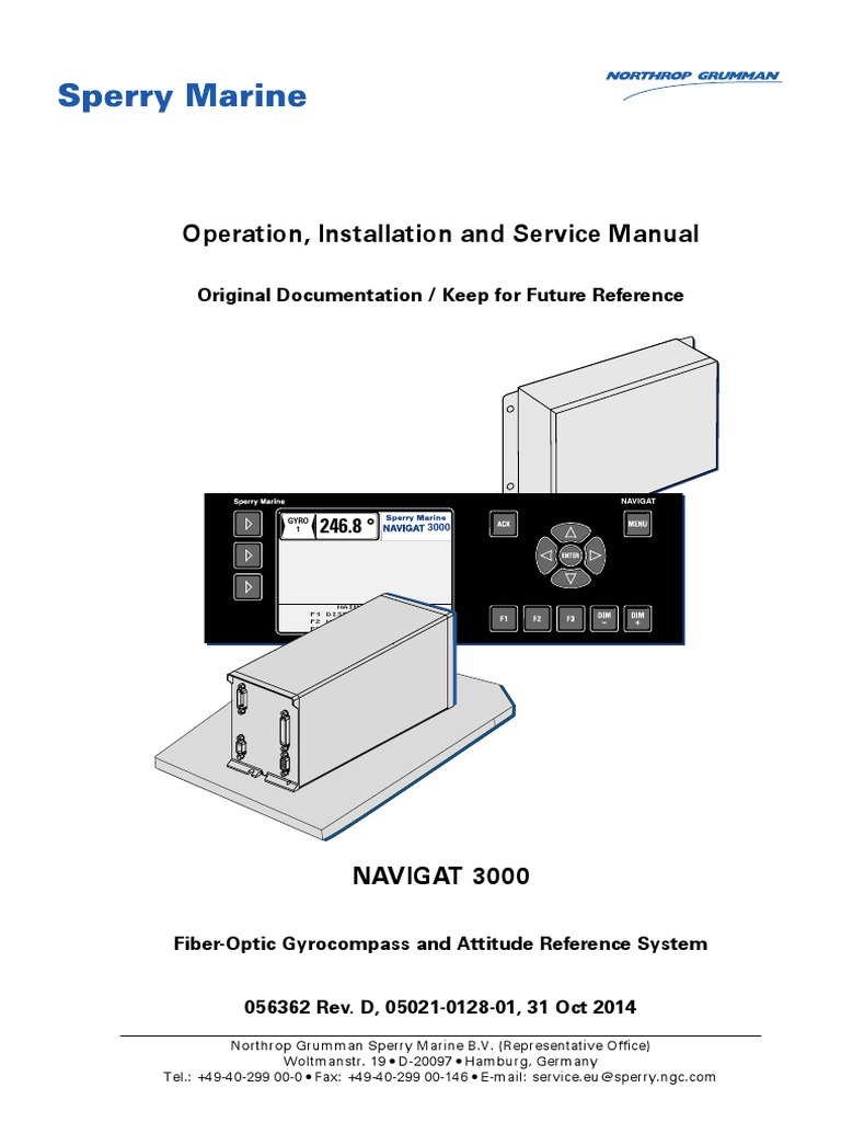 Navigat 3000 Operational Manual   Inertial Navigation System   Gyroscope   Sperry Marine Wiring Diagram      Scribd