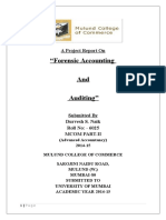 Aproject report on forensic accounting and auditing