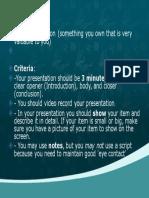 solo presentation topic