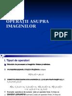 Operatii Asupra Imaginilor - Curs 2