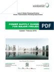DEWA Power Supply Guidelines for Major Project 2016