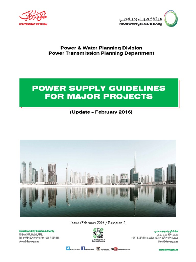 dewa power supply guidelines for major project 2016 latitude rh es scribd com Electrical Substation dewa distribution substation guideline 2008