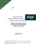 Derecho Civil I - Segundo Semestre (Primavera) 2010 - Mauricio Tapia Rodríguez