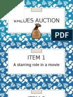values auction