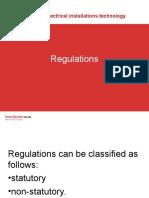Electrical Installation - Regulator
