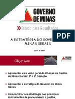 Choque de Gestao Governo de Minas Gerais