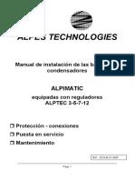 Manual Alpimatic bateria de condensadores