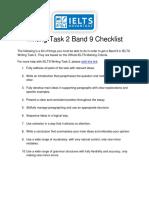 Band 9 Checklist