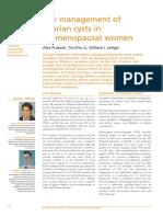 Management Ovarian Cyst