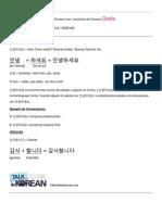 Háblame en Coreano leccion 1-nivel 1 uno