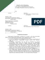 Counter Affidavit Ombudsman sample
