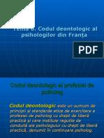 Codul Deontol. Franta