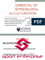 Fundamental of entrepreneurial acculturation