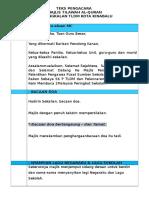 Teks Pengacara Majlis Penyerahan Watikah Pelantikan Pengawas Pss & Prs, Program Nilam & Kem Membaca2
