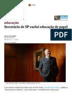 Entrevista com Secretário de SP sobre Educação