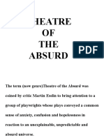 Absurdist Theatre and Existentialism