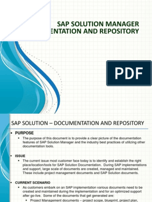 SolMan vs Sharepoint for Documenation | Share Point | Sap Se