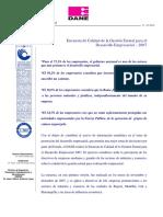 Encuesta de Calidad de la Gestión Estatal para el Desarrollo Empresarial - 2007