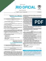 Diario oficial de Colombia n° 49.831. 1 de abril de 2016
