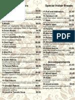 swagat niagara online menu