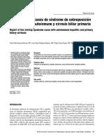 Sx de Sobreposicion Hepatica Reporte de Dos Casos 2010