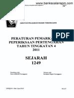 Kertas 1 Pep Pertengahan Tahun Ting 4 Terengganu 2011