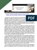 """Despre Reforma Statului Român În Viziune """"Tehnocrată"""""""