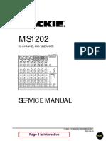 Mackie MS1202 Service Manual