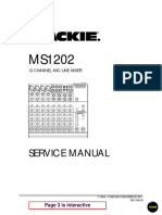 Mackie MS1202 Service Manual
