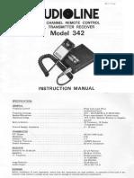 Audioline 342 CB Radio UK 27 81 User Instructions Circuit Diagram