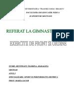 Gimnastica- Front Si Ordine