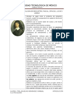 Aportes a La Psicología Descartes, Pascal, Spinoza, Locke