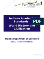 indiana academic standards - world history and civilization
