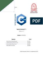 Laboratorio 1 de PEL115, introduccion a C++
