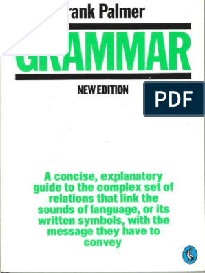 Grammar by Frank Palmer | English Language | Grammar