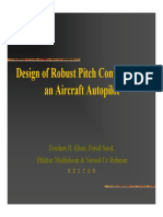 Design of Robust Pitch Controller for an Aircraft Autopilot