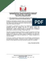 Defensoría del Pueblo supervisa jornada electoral del 10 de abril