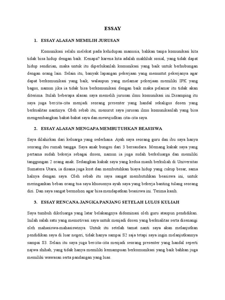 Contoh Essay Untuk Beasiswa Kse Tremendous Question Ml