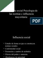 Influencia Social Psicologia de Las Normas e Influencia